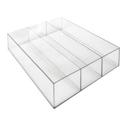 Mexse Drawer Organizer with 3 Compartments - Save yourself a run to Staples with one of these easy drawer organizers. You'll make the most of your small space by not adding more clutter to it.