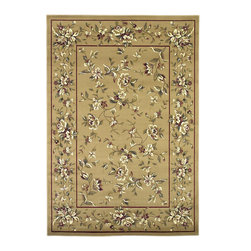 Cambridge 7338 Beige Floral Delight Rug - Our Cambridge Series is machine-woven in China of heat-set polypropelene. This line features a current color palette in classic and transitional patterns providing a well-designed and durable rug at a very affordable price point. No fringe.