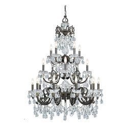 Crystorama - Crystorama 5190-EB-CL-MWP Legacy Chandelier - Legacy Collection mixes the warm tones of the English Bronze Wrought Iron and Clear Crystal accents.