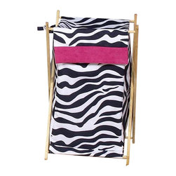 "Sweet Jojo Designs - Pink Zebra Hamper - The Pink Zebra Hamper by Sweet Jojo Designs will add a designers touch to any childs room. This childrens laundry clothes hamper has a wooden frame, mesh liner, and a fabric cover.The removable hamper body is secured to the wooden frame with corner loops and Velcro. The wooden stand folds flat for space-saving storage and the removable mesh liner is great for toting laundry.Dimensions: 15.5"" Length x 16"" Width x 26.5"" Height.If you like the Pink Zebra Hamper Hamper, dont forget to check out the other items in the collection."