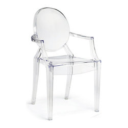 Grandin Road - Set of Two Emma Outdoor Stacking Chairs - UV coating resists scratches and fading. Stacks for quick and easy storage. Suitable for indoor or outdoor use. Our Emma Stacking Chair is proof that simple shapes can make a big impression. Bridging contemporary and classic design, Emma modernizes a Louis XV armchair in durable acrylic with a high-gloss finish.. . .