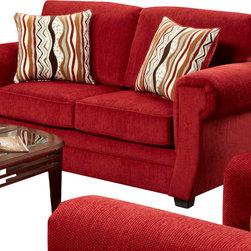 Chelsea Home Furniture - Chelsea Home Leslie Loveseat in Samson Red - Leslie loveseat in Samson Red belongs to the Chelsea Home Furniture collection
