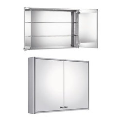 Whitehaus Collection Double Door 31.5W x 23.5H in. Surface Mount Medicine Cabine - Mirrored on both sides of the doors and on the back wall, the Whitehaus Collection Double Door 31.5W x 23.5H in. Surface Mount Medicine Cabinet WHCAR-48 delivers contemporary, functional style to your bathroom. This surface-mount medicine cabinet has two adjustable glass shelves, and is made from durable aluminum to give you years of service.About Alfi Trade, Inc. A place where beauty, quality, and service meet at last. Alfi Trade Inc. is a Los Angeles, California company that recently merged with Whitehaus Collection in West Haven, Connecticut to be their exclusive West Coast distribution center. Whitehaus Collection products transform the most essential rooms in the home: the kitchen and bath, into reflections of the homeowners' personal style. For over 10 years Whitehaus Collection has been providing people with high-end decorative plumbing fixtures that are beautiful and stand the test of time.