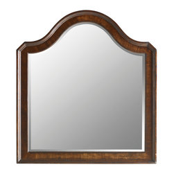 Stanley Furniture - Continental Bedroom Landscape Mirror - Beveled glass. Cross grain, quartered walnut inlay available in the Barrel finish. Made to order in America.
