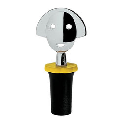 Alessi - Alessi Anna Stop 2 Bottle Stopper - This adorable wine stopper adds a splash of color to your bottle of red or white. Just like an engaging bartender, she also welcomes you with a friendly smile before every pour.