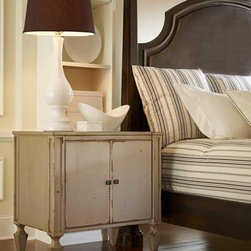 """Habersham - Habersham Classic Nightstand - It all started in the small North Georgia town of Clarkesville. It was 1969 and Habersham founder Joyce Eddy had just been given the chance to operate a small antique shop located above an old laundromat. This was just the opportunity a woman of Joyce's vision and energy would turn into the perfect blend of utility artistry and soul. Looking for ways to make her antique business more profitable she began crafting small decorative purses from vintage wooden cigar boxes. They were totally unique and they were an instant hit. Joyce named her new venture Habersham Plantation after Georgia's Habersham County and the plantations for which the area was known. The ideas just kept coming. One day Joyce was driving by a local textile company and spotted a large pile of old discarded wooden spools. Those spools were soon crafted into candleholders towel racks and folk art items. With the help of her sons and other family members Joyce expanded Habersham's offerings to include handcrafted furniture reflecting the American Country designs of the early 17th and 18th centuries. As word spread and production demands grew Joyce enlisted the help of woodworkers from her North Georgia region. This area had been a center for cabinetmaking since the early 1800s and the master craftsmen were well-schooled in the time-tested woodworking and joinery techniques that matched Joyce's sense of style and function. She even designed her factory to work just as the 18th century cabinetmakers did with individual artisans hand-finishing signing and dating each piece of furniture they crafted. Today Habersham still leads the way in the fine art of furniture design. So much so that in addition to their product line a new """"whole home"""" concept is finding its way into some of the finest dwellings in the country. Custom kitchen bath and other cabinetry designs offer rich opulent finishes and blend seamlessly with rooms of casual elegance all enhancing today's gr"""