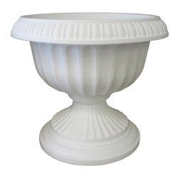 Bloem - Bloem 18in Grecian Urn White GU18-10 - Durability and economy of polypropylene