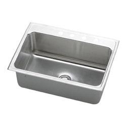 """Elkay - Elkay DLR3322104  33"""" x 22"""" Lustertone Gourmet Sink - Elkay's DLR3322104 is a 33"""" x 22"""" Lustertone Gourmet Sink. This high-quality sink is constructed of 18-gauge, Type 304 nickel bearing stainless steel, and is self-rimming."""