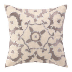 """Courtney Cachet - Vintage Ikat Embroidered Decorative Pillow - The modern prints and vibrant colors of this pillow mirror the designer's well-known positive and energetic attitude for a vibe that can only be described as happy and high-spirited. Features: -Modern prints and vibrant colors. -Down-filled. Dimensions: -16"""" H x 16"""" W x 5"""" D, 4 lbs."""