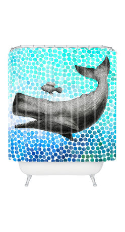 DENY Designs - Garima Dhawan New Friends 3 Shower Curtain - Who says bathrooms can't be fun? To get the most bang for your buck, start with an artistic, inventive shower curtain. We've got endless options that will really make your bathroom pop. Heck, your guests may start spending a little extra time in there because of it!