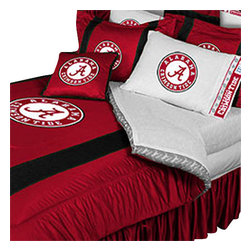 Store51 LLC - NCAA Alabama Crimson Tide Bedding Set College Football Bed, King - Features: