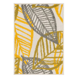 """Loloi Rugs - Loloi Rugs Terrace Collection - Ivory / Citron, 1'-8"""" x 5' - Bold design and bright colors come together beautifully in the outdoor-friendly Terrace Collection. Each Terrace rug is power loomed in Egypt of 100% polypropylene that's specially treated to withstand rain and UV damage without staining or fading color.�"""