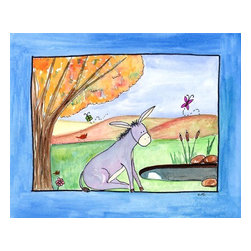 Oh How Cute Kids by Serena Bowman - Pensive Donkey, Ready To Hang Canvas Kid's Wall Decor, 8 X 10 - Every kid is unique and special in their own way so why shouldn't their wall decor be so as well! With our extensive selection of canvas wall art for kids, from princesses to spaceships and cowboys to travel girls, we'll help you find that perfect piece for your special one.  Or fill the entire room with our imaginative art, every canvas is part of a coordinating series, an easy way to provide a complete and unified look for any room.