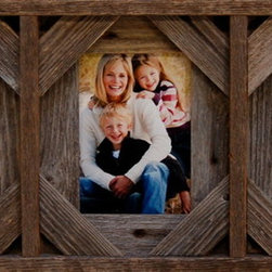 MyBarnwoodFrames - Collage Frame with Three 8x10 openings, Barnwood with Cornerblocks - A  triple  opening  frame  may  be  the  answer  to  your  quandary  about  how  to  hang  three  photos  at  once.  This  frame,  crafted  from  100%  reclaimed  wood  includes  three  8x10  openings  -  perfect  for  those  8x10  pictures,  greeting  cards,  or  handmade  cross-stitch  projects  you've  been  wanting  to  frame.                  Holds  three  individual  8x10  inch  photos              Includes  glass,  backing  and  hanging  hardware              Crafted  from  reclaimed  wood  here  in  the  USA              Cornerblocks  are  added  for  extra  texture  and  a  western  design              Paintable/Stainable              Hangs  horizontally  or  vertically  so  you  can  display  portrait  or  landscape-oriented  photos              If  barnwood  isn't  your  favorite,  you  can  always  paint  this  frame  the  color  of  your  choosing,  or  you  can  order  one  of  our  painted  collage  picture  frames  in  another  color.           Please  Note:  Items  included  in  the  image  photo  are  for  display  only  and  are  not  included.  Due  to  the  nature  of  barnwood,  your  frame  may  vary  in  color  or  texture  from  the  one  pictured  here.