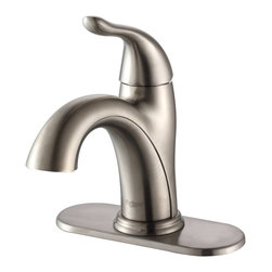 Kraus - Kraus Arcus Single Lever Basin Faucet Satin Nickel - *Add a touch of elegance to your bathroom with a stylish lavatory faucet from Kraus