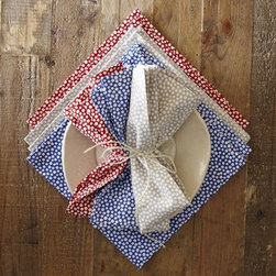 Snow Printed Napkins - I love how this printed napkin is not a literal interpretation of snow, but rather an abstract inspiration.