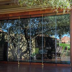 Frameless folding doors for Bella retractable screen door