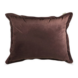 Majestic Home - Indoor Dark Brown Faux Suede Floor Pillow - Chairs are for squares! So don't let a standing-room crowd get you down. Toss this giant pillow on the floor — the faux suede feels great to the touch while the secret to the body-forming comfort is the beanbag filling.