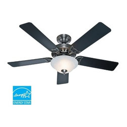 "Hunter Fan Company - 52"" Sonora Pewter Ceiling Fan - The Sonora - 52"" Antique Pewter  Ceiling Fan - Five Black/Cherry Blades; WhisperWind motor; three-position mounting system; uses one 26w CFL bulb (included); can be installed without light fixture  This item cannot be shipped to APO/FPO addresses. Please accept our apologies."