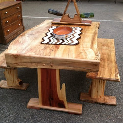 kitchen table and benches -