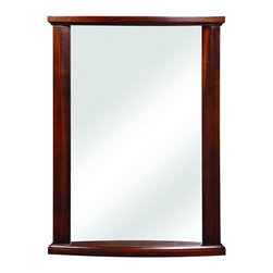 """DecoLav - Decolav 9715-MMG Olivia Wall Mirror in Mahogany - Decolav 9715-MMG Olivia Wall Mirror in MahoganyDECOLAV's Olivia 24""""Wx3.25""""Dx32""""H Wall Mirror is designed to be hung vertically to accent the beautiful solid wood trim work. Matched with the coordinating pieces of the Olivia Collection makes this the perfect addition to anyone's home. Decolav 9715-MMG Olivia Wall Mirror in Mahogany, Features:&#149 Part of the Olivia Bath Furniture Collection"""