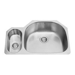 Vigo - Vigo 32-inch Undermount Stainless Steel 18 Gauge Double Bowl Kitchen Sink - Give your kitchen a makeover starting with a Vigo stainless steel kitchen sink.