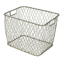 "Aidan Gray - Summit Basket - You'll redefine the term ""wire service"" with this handy handled basket (sold in a set of four). It's a stellar storage solution that's easy to tote about and lets you see what you've got inside."
