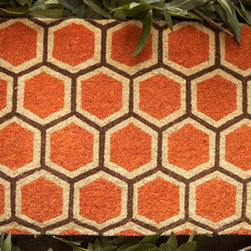 Honeycomb Doormat - I have a friend who recently remodeled a fantastic little midcentury modern ranch, and this rug would add a nice finishing touch to his entry. The hexagon pattern and bright orange hue give this modern doormat a cool retro vibe.