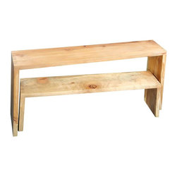 Shiner - Shiner Nest Table - The Nest Table is an instant classic. It is crafted out of American Poplar by the hands of American craftsmen. The table is a perfect piece for a hallway, end of bed, as well as sofa table. When paired with the Nest Bench this table becomes a useful and welcome member to any household.