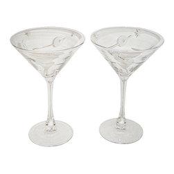 Luminarc - Luminarc Stars & Moon Set Of Two Martini Glasses - Luminarc Stars & Moon Set Of Two Martini Glasses