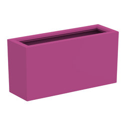 Decorpro - Medium Aberdeen Planter, Bubble Gum - The Aberdeen planter is perfect for indoor and outdoor use. Use this planter indoors to create an amazing garden for fresh herbs and vegetables. The slender depth and elongated width allows for a versatile range of placements and uses.