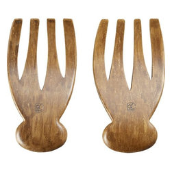 Bamboo Salad Hands - Give your hostess a hand — bamboo salad hands, that is!