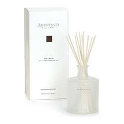 Havana Large Diffuser - Havana - mysterious and exotic and fantastically represented in this large diffuser to bring an exotic  blend of bergamot, tobacco leaf and ylang ylang into your space. The beautiful frosted glass vessel adds a decorative touch in addition to, filling your home with months of intoxicating fragrance.