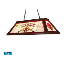 Elk Lighting - Landmark Lighting Tiffany Game Room-Lighting 70052-4-LED 4-Light Billiard/Island - 70052-4-LED 4-Light Billiard/Island Light in Dark Mahogany Wood - LED - 800 Lumens belongs to Tiffany Lighting/Billiard/Island Collection by Landmark Lighting The Stained Glass Billiard Collection Takes Its Cues From The Game, Sporting Colorful, DetaiLED Illustrations And Classic Victorian Themes. Use Over A Pool Table Or Kitchen Island For Optimal Illumination. - LED, 800 Lumens (3200 Lumens Total) With Full Scale Dimming Range, 60 Watt (240 Watt Total)Equivalent , 120V Replaceable LED Bulb Included Island Light (1)