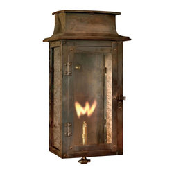 Elk Lighting - Elk Lighting-7941-WP-Maryville - One Light Gas Wall Lantern - Outdoor Gas Wall Lantern Maryville Collection In Solid Brass In A Washed Pewter Finish
