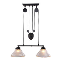 Zuo Modern - Zuo Modern Garnet Ceiling Lamp in Antique Black Gold - Ceiling Lamp in Antique Black Gold belongs to Garnet Collection by Zuo Modern A precise reproduction of an antique light with an industrial past, the Garnet ceiling lamp's pulley system and antique patina finish will turn heads. The lamp comes with two 60w bulbs and is UL approved. Lamp (1)
