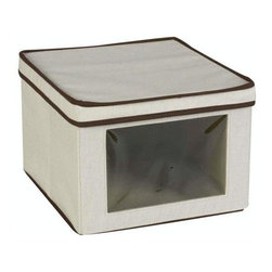 Home Decorators Collection - Vision Storage Box - Perfect for keeping your seasonal clothing items neatly stored away, This bin features a convenient see-through window that allows you to view the items within for simple organization and easy access. Perfect for any closet or storage space, you are sure to love having this piece as an addition to your storage system. Canvas construction offers years of lasting use. See-through plastic window is durable and sturdy.
