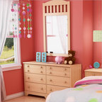 South Shore - South Shore Newton Double Dresser and Mirror Set in Natural Maple - South Shore - Dressers - 2713027PKG - South Shore Newton Double Dresser and Mirror Set in Natural Maple. This convenient and practical double dresser is an ideal choice when decorating a child's or teen's room. It features six large drawers with plenty of room for clothes and other treasures. Reminiscent of Shaker style, the Newton Double Dresser will be the perfect addition to a bedroom with a country or contemporary decor.