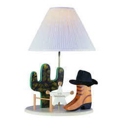 """Lite Source - Lite Source 3CB20106 Children / Kids Table Lamp Lite Source Kids Collec - Bringing out the Old West is the theme of this great lamp. From the cactus to the hat on the boot, it makes you want to say """"Howdy Partner!""""1 100w Max Medium Base Bulb (Not Included)"""
