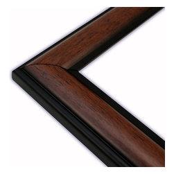 The Frame Guys - Wide Round Mahogany/Black Picture Frame-Solid Wood, 16x20 - *Wide Round Mahogany/Black Picture Frame-Solid Wood, 16x20
