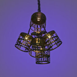 Lamps Plus - Asian Bronze Flower 10-Light LED Party String Lights - Add a great look to your outdoor areas with these string party lights that are perfect for entertaining and more. Finished in bronze these ten lights features flower cutouts for a fun look. Clear LEDs with warm sunny illumination offer energy efficiency.  LED party string lights.  Flower cutout design.  Set includes 10 lights.  Non-linkable design.  Bronze finish.  Includes clear LEDs.  Warm sunny color temperature.  Includes black 5m lead wire.  Each light is 15 centimeters apart.