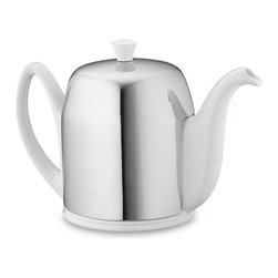 Insulated Teapot, 6-Cup - Here's a teapot that will take you through a very leisurely brunch. Insulated stainless steel keeps the porcelain within hot for an hour.