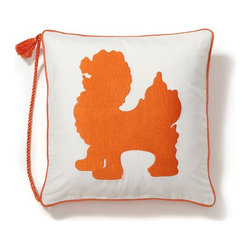 Embroidered Dog Tassel Pillow Cover - These foo dog pillow covers are absolutely fantastic and come at a great price.
