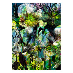 Aphrodites Garden Wall Mural - This Aphrodite art brings the symbolism of love and beauty to your walls. An enchanted fairy mural created in a contemporary style.