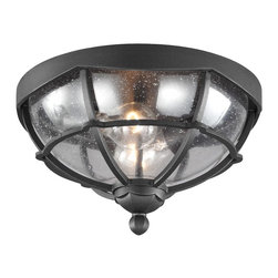 Murray Feiss - Murray Feiss OL9812TXB River North 2 Bulb Textured Black Outdoor Lantern Flushmo - Murray Feiss OL9812TXB River North 2 Bulb Textured Black Outdoor Lantern Flushmount