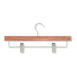 Honey Can Do - 8 Pack Cedar Skirt & Pant Hanger w Clips - Cedar Skirt and Pant Hanger. Straight shape and steel clips