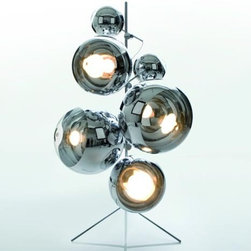 Tom Dixon - Tom Dixon | Mirror Ball Tripod Stand - A robust stainless steel stand to accompany a maximum of 6 Mirror Balls (sold separately). The Mirror Balls are tightly held in place with industrial strength clamps (sold separately).Available in three sizes: