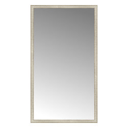 """Posters 2 Prints, LLC - 43"""" x 76"""" Libretto Antique Silver Custom Framed Mirror - 43"""" x 76"""" Custom Framed Mirror made by Posters 2 Prints. Standard glass with unrivaled selection of crafted mirror frames.  Protected with category II safety backing to keep glass fragments together should the mirror be accidentally broken.  Safe arrival guaranteed.  Made in the United States of America"""