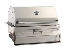 """Fire Magic - Fire Magic 14-S101C-A Built-In Charcoal Grill With Oven Hood - This grill offers a true 30"""" across the cooking surface, not the FRAME of the grill like others measure. The total cooking area is approximately 540 sq. inches. The grill also has a high dome lid to accomodate larger pieces of meat.Front loading door makes it easy to add more charcoal while the unit is in operation. That means you don't have to remove the cooking grids and the meat to add more fuel to the fire! Every Firemagic Charcoal Barbecue includes easy temperature control by literally turning the front-mounted crank to raise and lower the fire. Firemagic Charcoal grills also feature heavy-duty specially-textured cooking grids that are made of thick 5/16"""" rod. These grids will last a lifetime and are perfect for cooking many types of food. The textured finish also helps food resist sticking to them.These charcoal units allow you to match up Firemagic gas unit accessories for your complete outdoor kitchen or cooking package. All offered by a company that has been building outdoor barbecues for almost 50 years! You know they will be here tomorrow. All Firemagic grills are high BTU and should only be used in Non-combustible cabinets. The cut out dimensions for the Gourmet 30"""" charcoal grill are 32 1/4""""W, 19 3/4""""D and 12""""H. Should your cabinet be constructed from wood or any other combustible material, please see the available insulating liner that should be purchased for your application. Please note that the cut out dimensions will be different."""