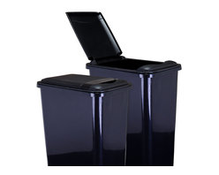 Hardware Resources - Lid for 50-Quart Plastic Waste Container Black - Lid for 50 Quart Plastic Waste Container  Black.  10 1/4 x 14 5/8 x 1 5/8.  Made of high quality polymer.  Fits CAN 50 trash can.